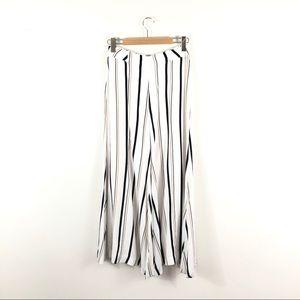 Anthropologie Ett:twa White Striped Wide Leg Pants